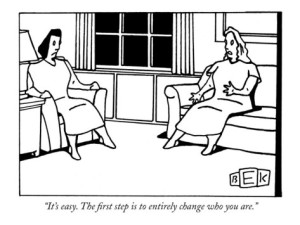 bruce-eric-kaplan-it-s-easy-the-first-step-is-to-entirely-change-who-you-are-new-yorker-cartoon