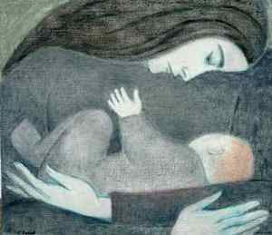 "Will Barnet, ""Mother and Child"""