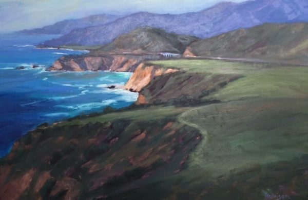 Big Sur, Oil Painting, Kathleen Robison